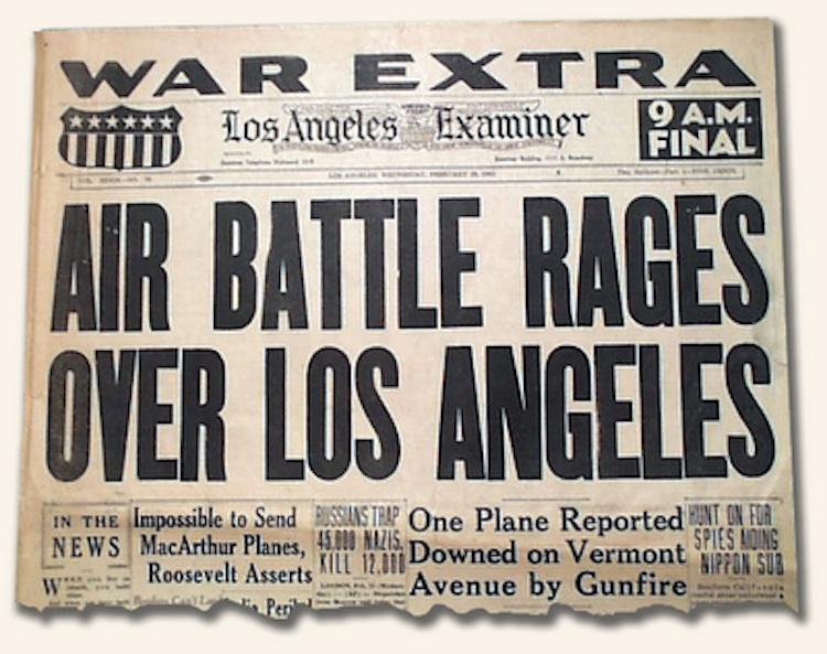 Battle of LA, Los Angeles Times, 26 February 1942