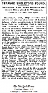 1912 New York Times on giant skeletons.