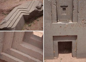 Massive granite and andesite stones carved with astonishing precision. Puma Punku.