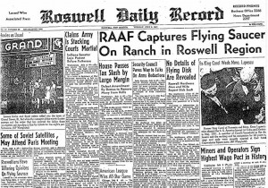 RAAF captures flying saucer in Roswell