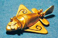 Colombian aircraft figurine
