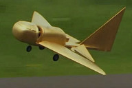 ancient aircraft model in flight